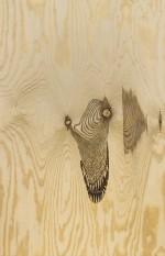 """Verk från utställningen """"Glödgad plywood"""" i Stockholm, december 2013."""